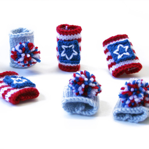 Lion Brand Vanna's Choice 4th of July Napkin Rings
