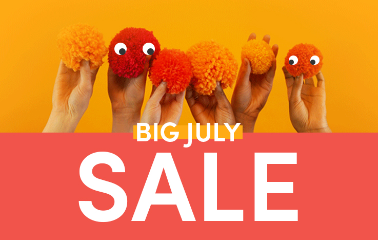 Big July Sale! Up to 60% off!