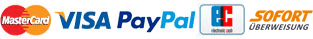 MasterCard VISA PayPal ELV Sofort