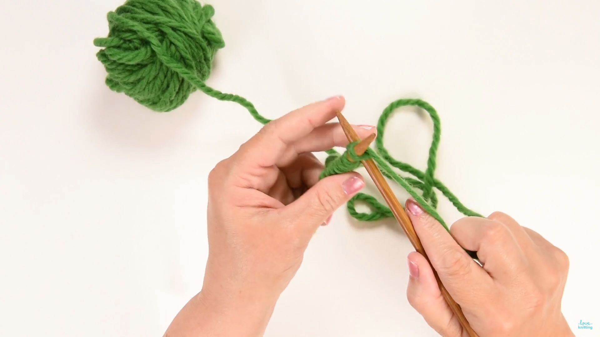 How To Cast On With Your Thumb Loveknitting